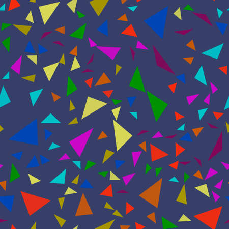 Seamless pattern with colorful triangles. Vector background Zdjęcie Seryjne