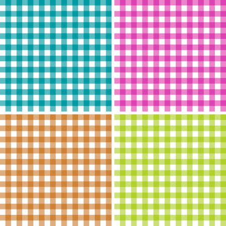 Set of patterns tablecloths stylish a illustration design. Geometrical traditional ornament for fashion textile, cloth, backgrounds. Vector illustration. Reklamní fotografie - 89771806