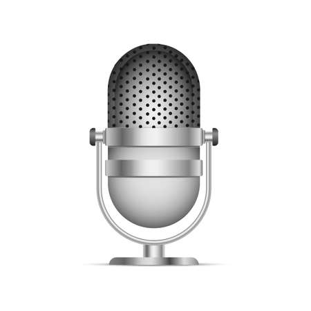 Realistic microphone icon vector