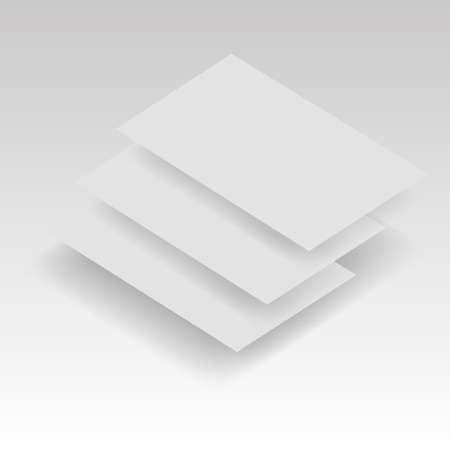 Blank business card, postcard vector illustration.