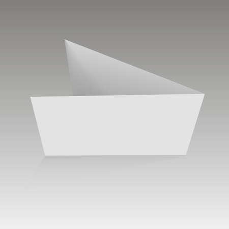 Tarjeta de visita en blanco, ilustración vectorial de tarjeta postal. Foto de archivo - 90464776