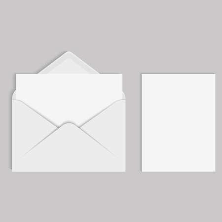 Vector mockup realistico per la lettera o la carta di invito Archivio Fotografico - 89832058