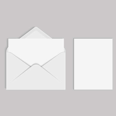 Vector realistic mockup for letter or invitation card