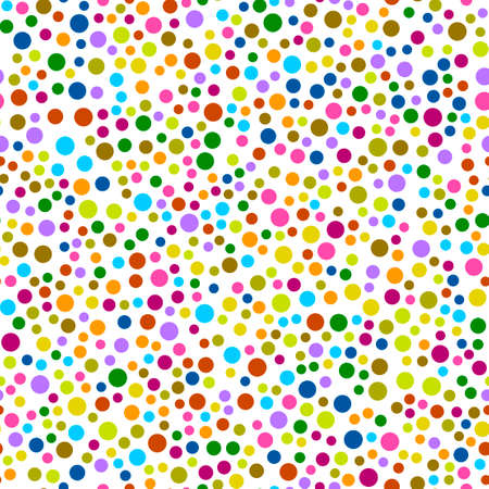 Seamless pattern with dots for fashion textile, cloth, backgrounds. Vector illustration.