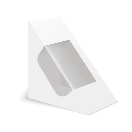 White cardboard triangle box packaging for sandwich food gift vector white cardboard triangle box packaging for sandwich food gift or other products vector mock up template ready for your design maxwellsz