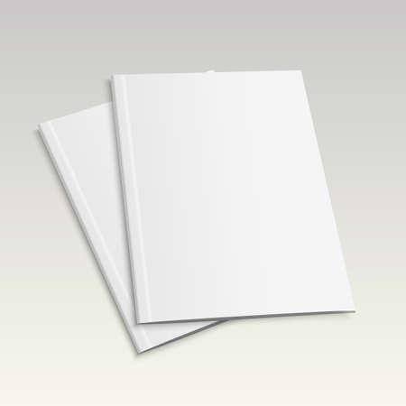 Realistische leeg gesloten tijdschrift mock-up sjabloon, vectorillustratie.