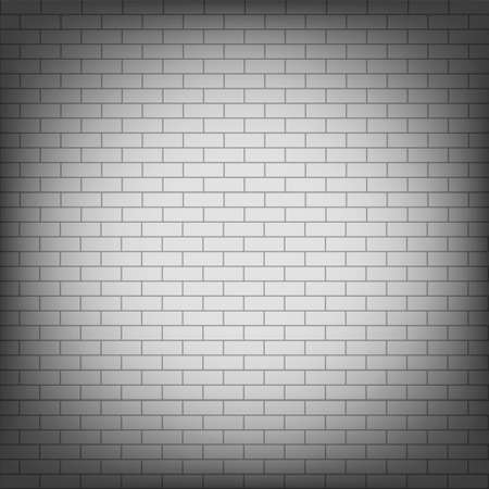 Vector background with white bricks wall.