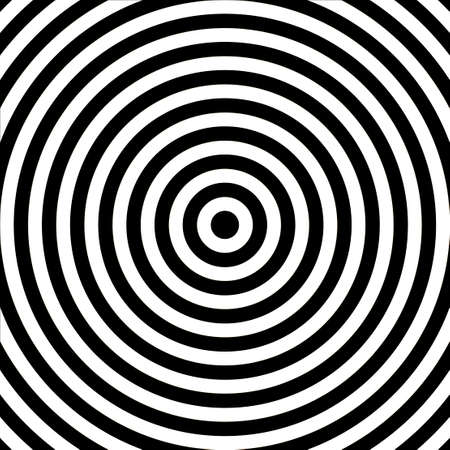 Concentric abstract circle pattern. Black and white graphics. Vector. Illustration