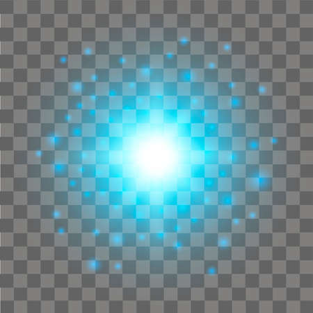 Blue Glow light effect. Abstract effect of lighting flare. Vector. Illustration