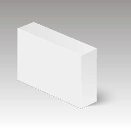Blank vertical paper or cardboard box template standing on white 90379185 blank vertical paper box template standing on white background vector illustration maxwellsz