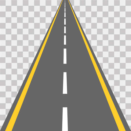 Road, street with asphalt. Highway. Vector illustration