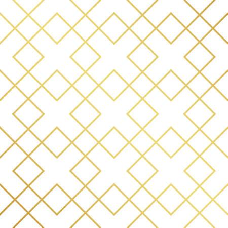 Seamless golden geometric texture pattern. Golden background Çizim