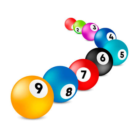 Bingo lottery balls. . Vector lottery number balls set colorful. Vector illustration