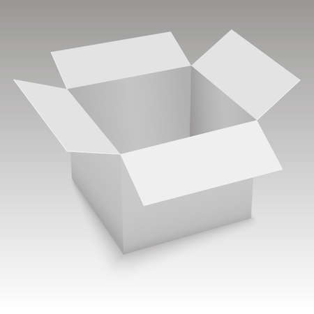 White open box.  Vector illustration.