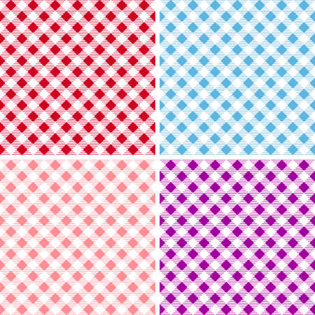 Picnic table cloth. Color square plaid pattern.  Geometrical traditional ornament for fashion textile, cloth, backgrounds. Vector illustration Illustration