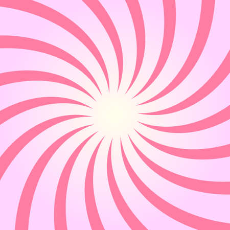 Spiral starburst, sunburst background set. Lines, stripes with twirl, rotating distortion effect.