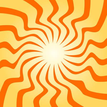 Spiral starburst, sunburst background set. Lines, stripes with twirl, rotating distortion effect.