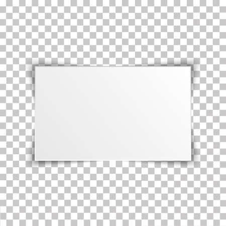 Blank rectangle album template on transparent background. Vector illustration.