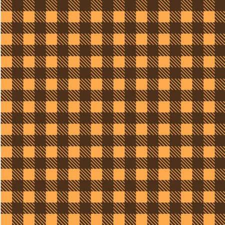 Gele en bruine naadloze tafelkleedvector. De naadloze traditionele Vector van het tafelkleedpatroon. Geometrisch eenvoudig vierkant patroon. Stock Illustratie