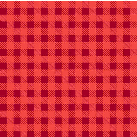 Red  seamless tablecloth Vector. Airy Blue and Riverside color. Seamless traditional tablecloth pattern Vector. Pastel blue color square pattern Vector. Geometrical simple square pattern.