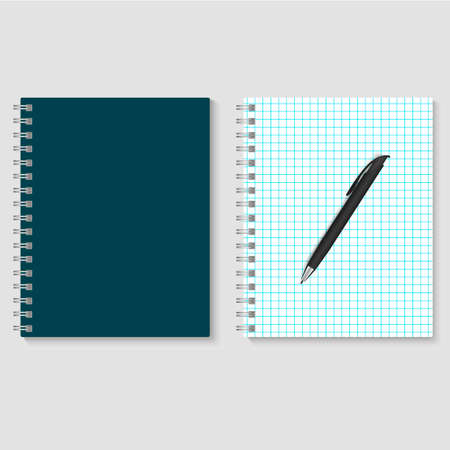 171 Squared Blank Spiral Notebook Stock Illustrations, Cliparts And ...