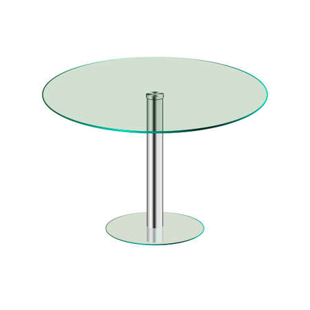 Modern glass table isolated on a white background. Vector illustration.  Ilustração