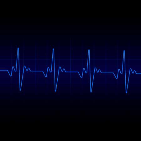 Heart beats cardiogram background. Vector.  イラスト・ベクター素材