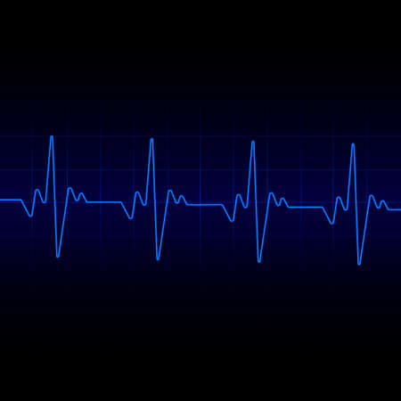 Heart beats cardiogram background. Vector. Illustration