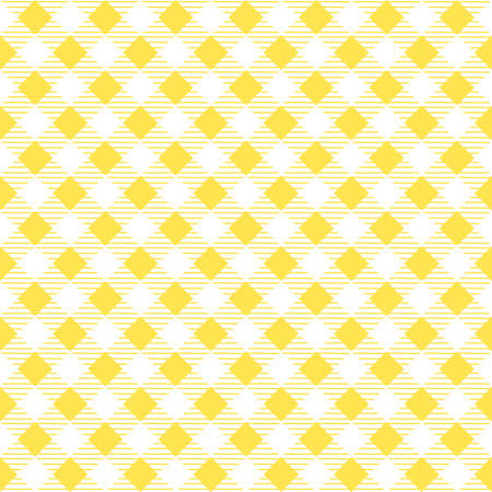 Yellow patterns tablecloths stylish a illustration design. Geometrical traditional ornament for fashion textile, cloth, backgrounds. Vector illustration.