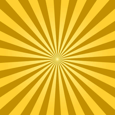 Abstract light yellow sun rays background. Vector