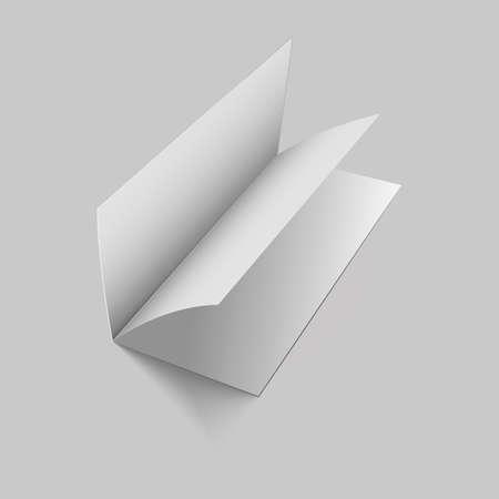 Blank empty magazine or book or booklet, brochure, catalog, leafle. Vector illustration.