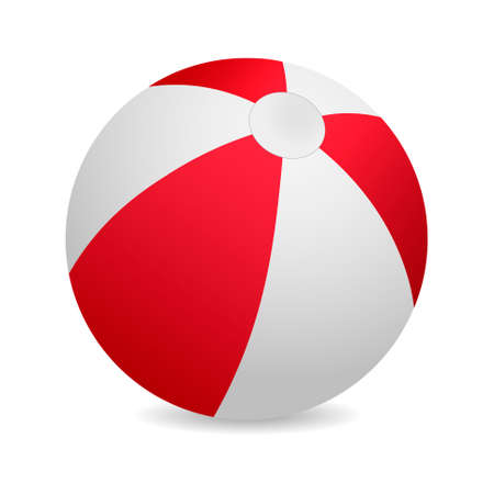 3d red beach ball vector illustration royalty free cliparts rh 123rf com beach ball vector free ai beach ball vector art