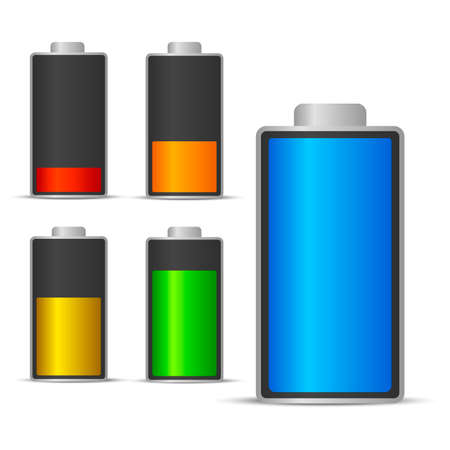 Battery charging status icon.
