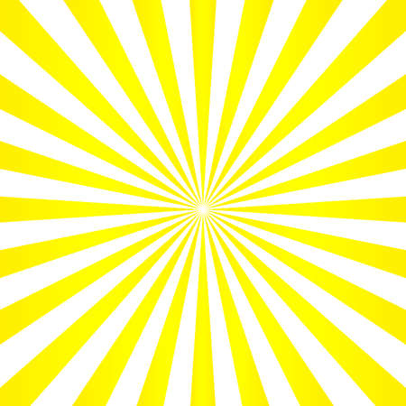 Abstract light yellow sun rays background.