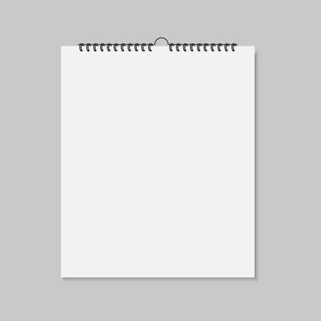 Realistic mockup blank wall calendar. Ilustração