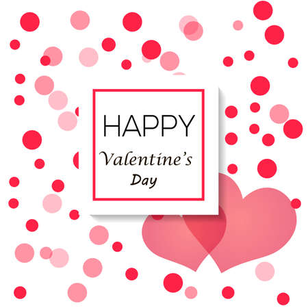 Valentine's day background with heart and circles.