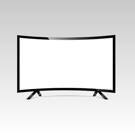 液晶またはLEDテレビ画面。表示ブランク、技術デジタル、電子機器、モックアップ。ベクトルイラスト。 写真素材 - 92028295