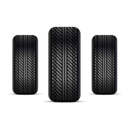 Realistic tires. Vector.