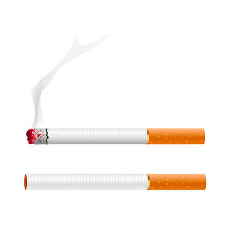 Cigarette vector. Cigarette. vector illustration. Иллюстрация