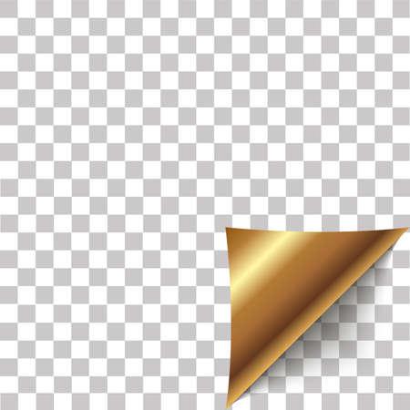 Buccia d'angolo di carta. Foglio bianco di nota di carta adesiva piegata. Vector l'illustrazione dell'elemento della buccia dell'autoadesivo per il messaggio pubblicitario su fondo trasparente.