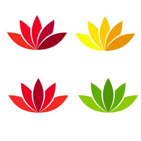 Lotus flower different color. Vector element