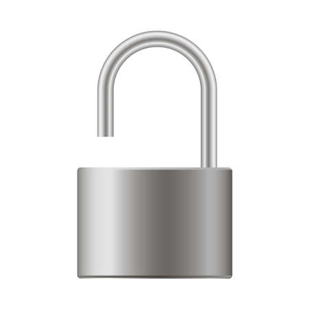 Realistic opened padlock.  Vector illustration.