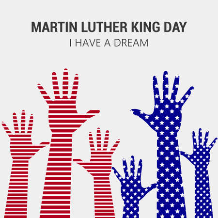 Happy Martin Luther King day  greeting card poster or banner. Vector. Иллюстрация