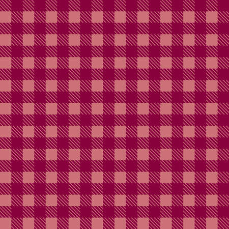 Red seamless tablecloth Vector. Seamless traditional tablecloth pattern Vector. Pastel red color square pattern Vector. Geometrical simple square pattern Illusztráció