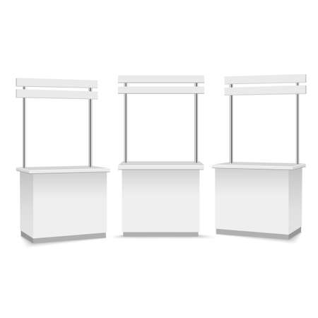 Blank promotion stand on a white background. Vector illustration