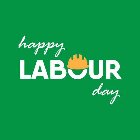 Happy Labor Day design concept. Vector illustration.