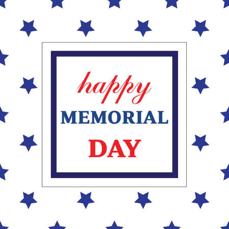 Memorial day greeting card. Vector illustration Vectores