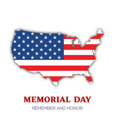 Memorial day greeting card. Vector illustration. Vectores