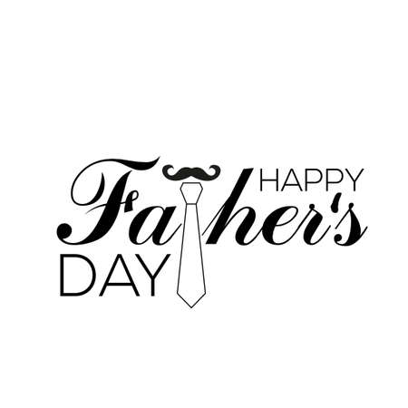 Happy Father's Day greeting card. Vector illustration