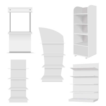 Blank of sale trade stands for your design. Vector